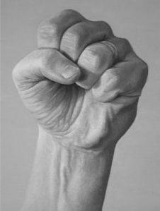 Antes el puño con la rosa, ahora el puño de la confrontación interna y en el futuro el de la lucha civil entre territorios