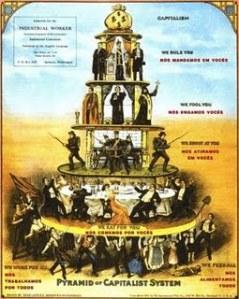 La pirámide del sistema capitalista