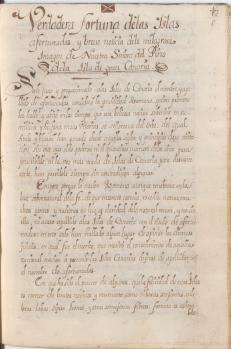 Manuscrito original de 1714