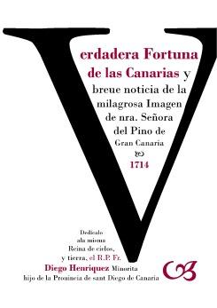 """Cubierta del libro """"Verdadera fortuna de las Canarias"""" publicado en 2014"""